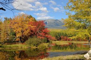 Mt. Katahdin from Abol Campsite.