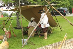 Birchbark Canoe Maker's  Camp