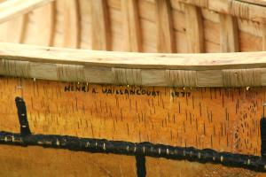 Fine Construction Detail of Birchbark Canoe