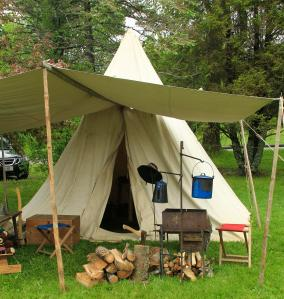 Woodsman's camp Photo by Marian Moore Lewis