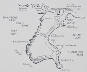 Map of Broad Cove, ME